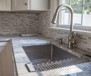 Custom Back-splash and Stainless Sink